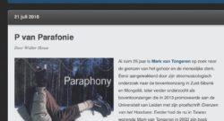 De P van Parafonie: Walter Slosse's alfabet
